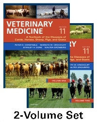 Veterinary Medicine: A Textbook of the Diseases of Cattle, Horses, Sheep, Pigs, and Goats - Two-Volume Set