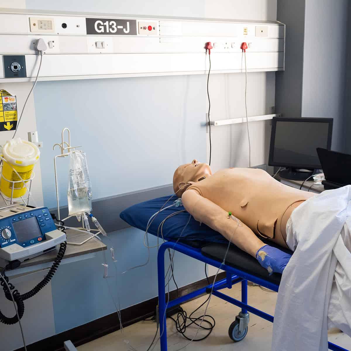 Hospital room simulation