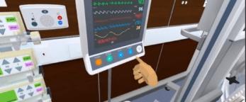 Checking vital signs monitor using virtual nursing simulation